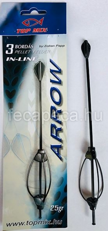 TOP MIX HÁROMBORDÁS ARROW METHOD FEEDER KOSÁR 25G - 590,- Ft