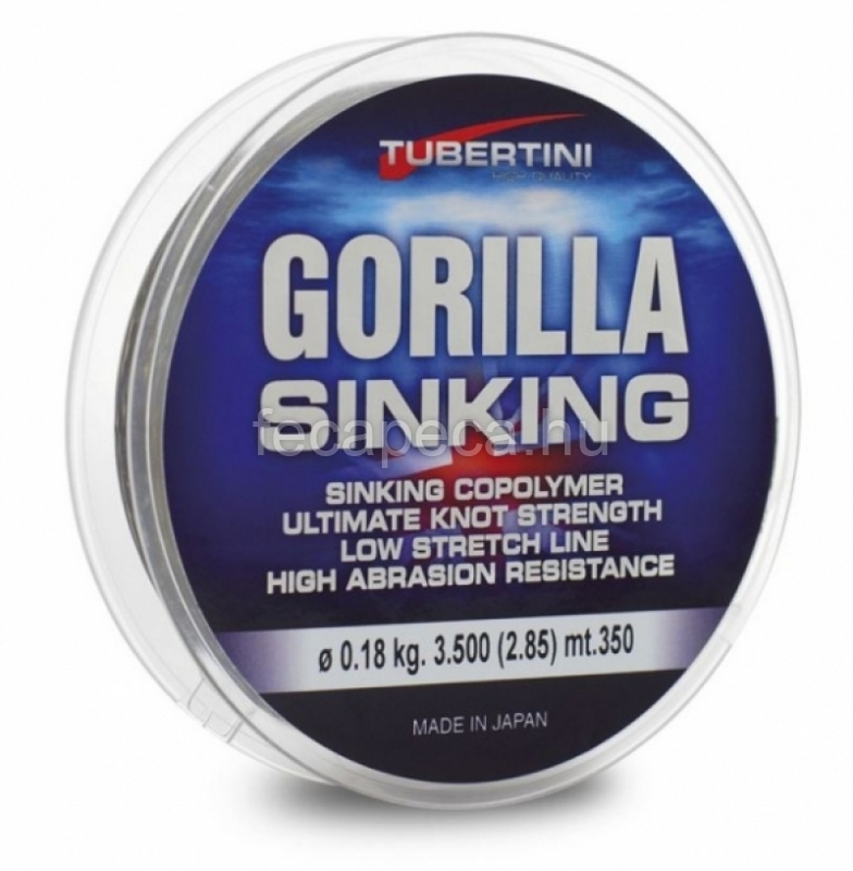 TUBERTINI GORILLA SINKING 350M  0,25MM - 2 890,- Ft