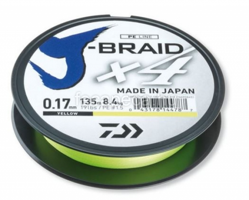 DAIWA J-BRAID X4 FONOTT YELLOW 0,33MM - 2 990,- Ft