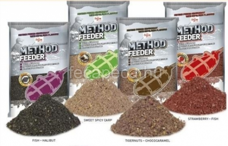 CARP ZOOM METHOD FEEDRER 1KG STRAWBERRY-FISH  - 690,- Ft