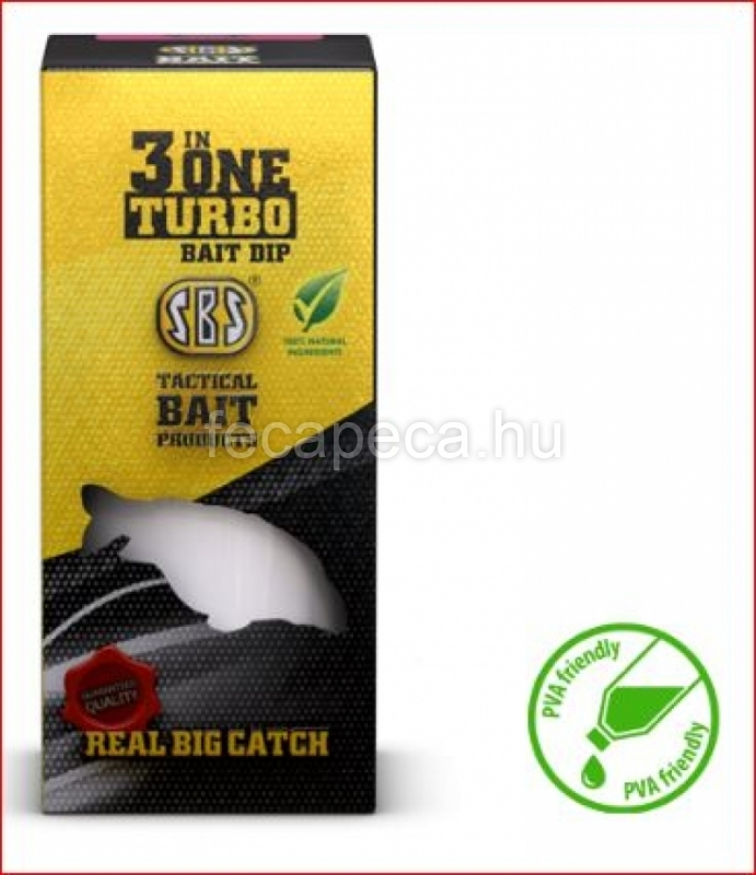 SBS 3 IN ONE TURBO BAIT DIP  GARLIC (FOKHAGYMA) 80ML  - 990,- Ft