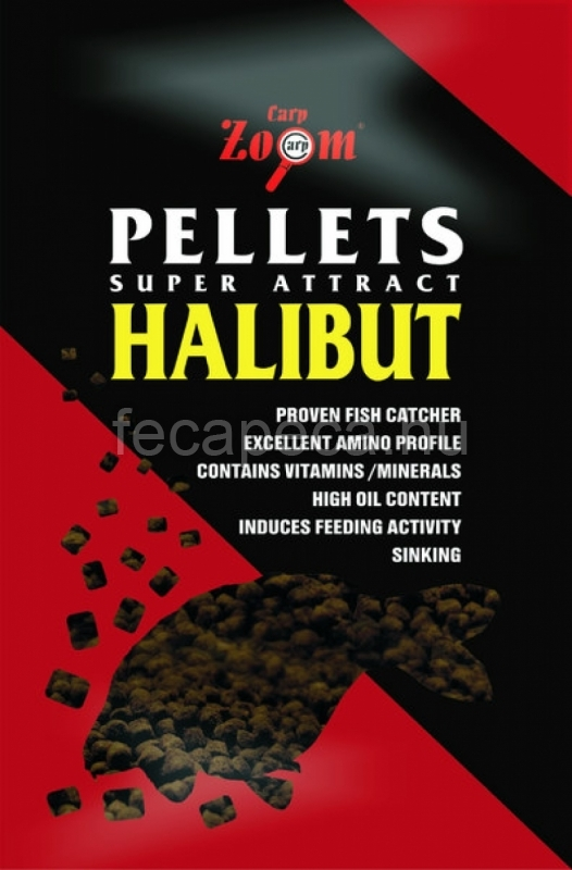 CARP ZOOM HALIBUT PELLETS 6MM  800G - 990,- Ft