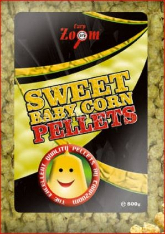 CARP ZOOM SWEET BABY CORN PELLETS SÁRGA 8MM  800G - 850,- Ft