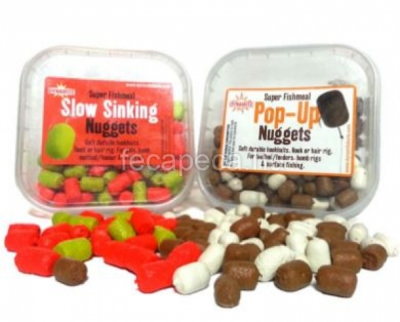 DYNAMITE BAITS POP-UP NUGGETS HORGOS PELLET HALAS / BARNA-FEHÉR  6MM 40G  - 2 390,- Ft