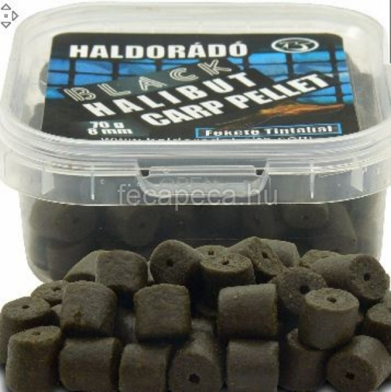 HALDORÁDÓ BLACK HALIBUT CARP PELLET FEKETE TINTAHAL 8MM 70G  - 990,- Ft