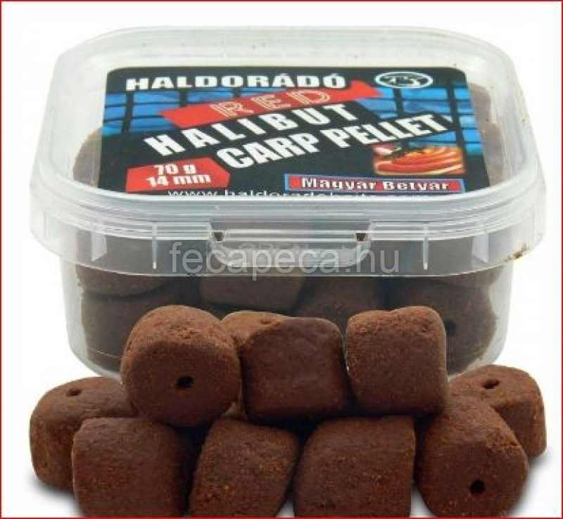 HALDORÁDÓ RED HALIBUT CARP PELLET FEKETE TINTAHAL 14MM 70G - 1 290,- Ft
