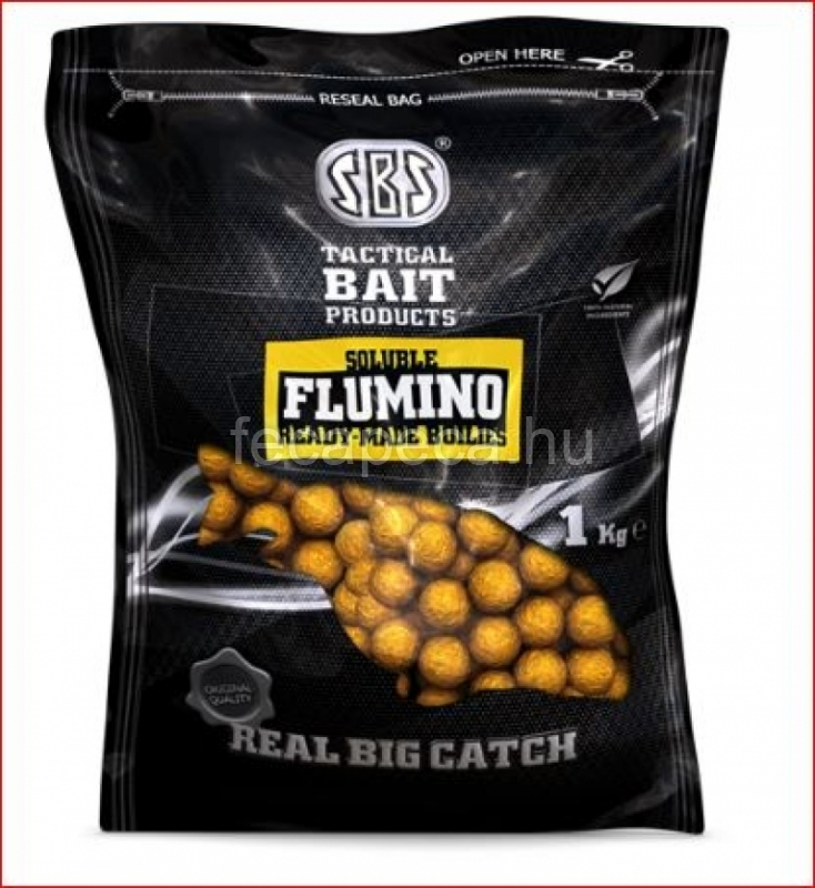 SBS FLUMINO SOLUBLE READY-MADE BOILIES SQUID & OCTOPUS  20MM 1KG - 1 990,- Ft