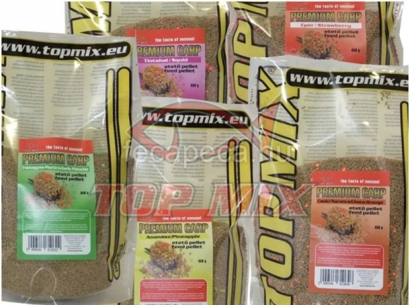 TOP MIX PREMIUM CARP ETETŐ PELLET ANANÁSZ 650G - 1 490,- Ft