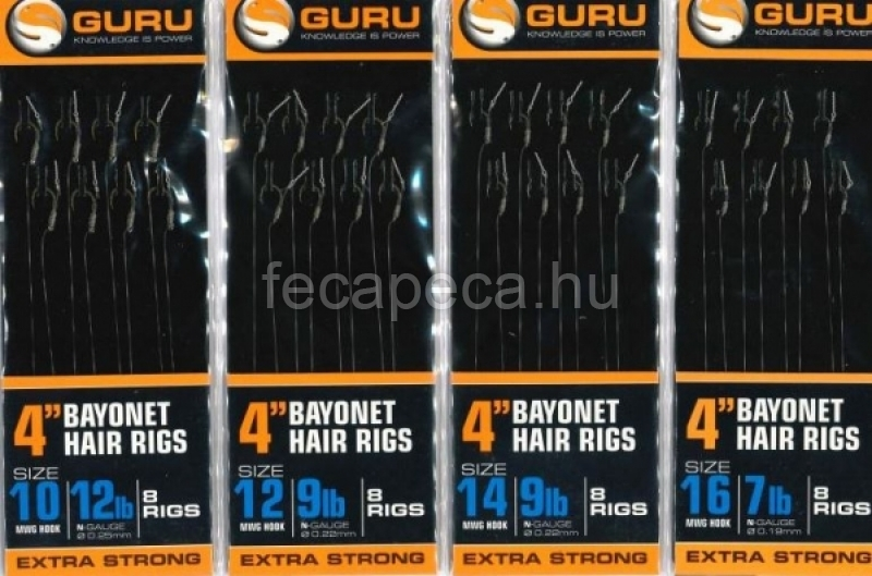 GURU METHOD HAIR RIG BAYONETT CSALITÜSKÉS ELŐKÖTÖTT HOROG 16 - 1 490,- Ft
