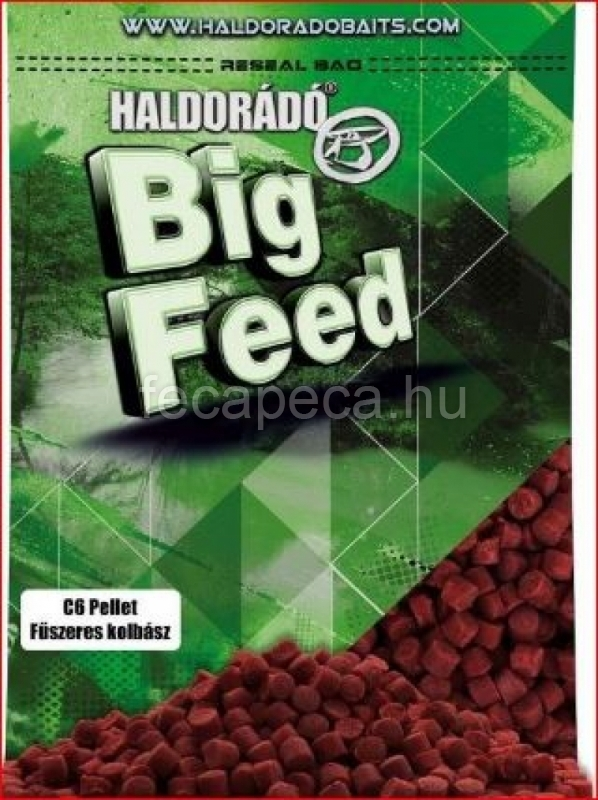 HALDORÁDÓ BIG FEED - C6 PELLET - FŰSZERES KOLBÁSZ 6MM 900G - 990,- Ft