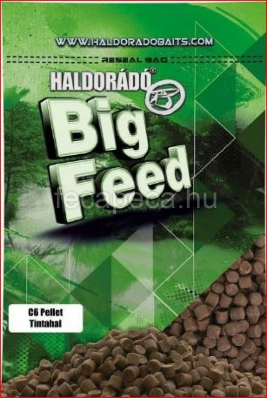 HALDORÁDÓ BIG FEED - C6 PELLET - TINTAHAL  6MM 900G - 990,- Ft