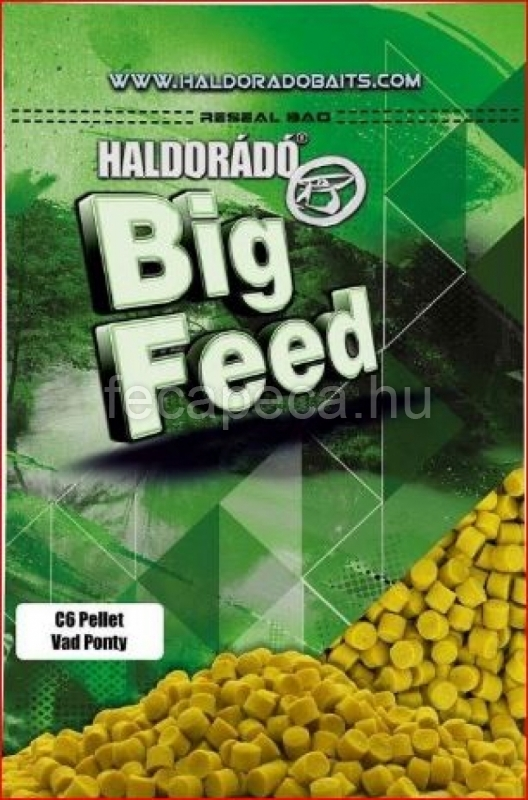 HALDORÁDÓ BIG FEED - C6 PELLET - VAD PONTY  6MM 900G - 990,- Ft