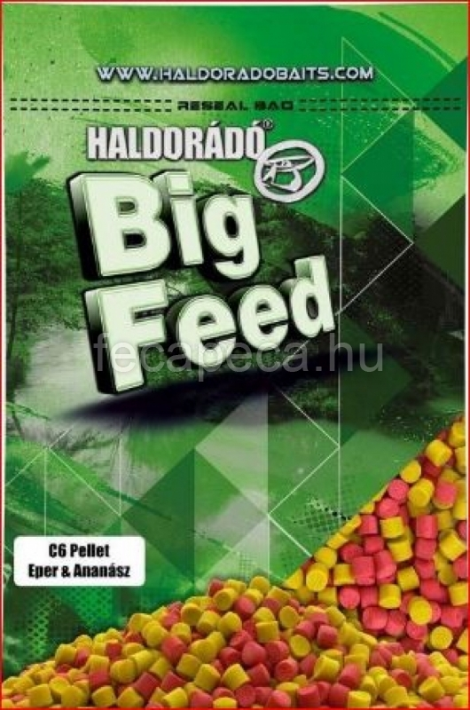 HALDORÁDÓ BIG FEED - C6 PELLET - EPER & ANANÁSZ  6MM 900G - 990,- Ft
