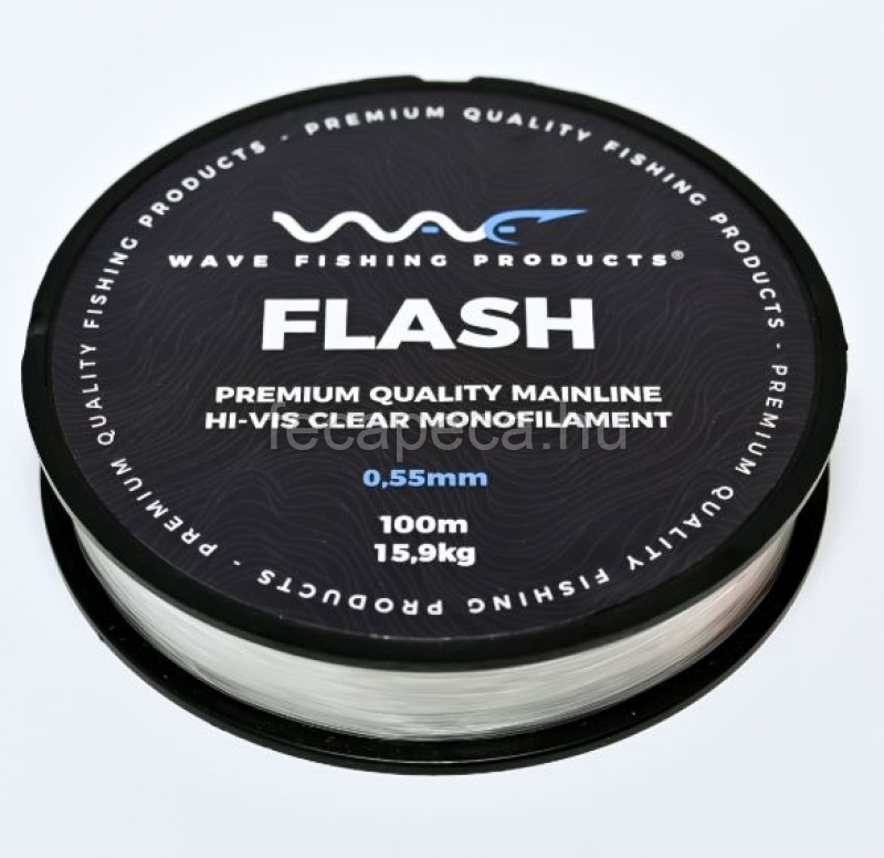 WAVE PRODUCTS WAVE FLASH CLEAR ZSINÓR 100M 0,55MM - 2 690,- Ft