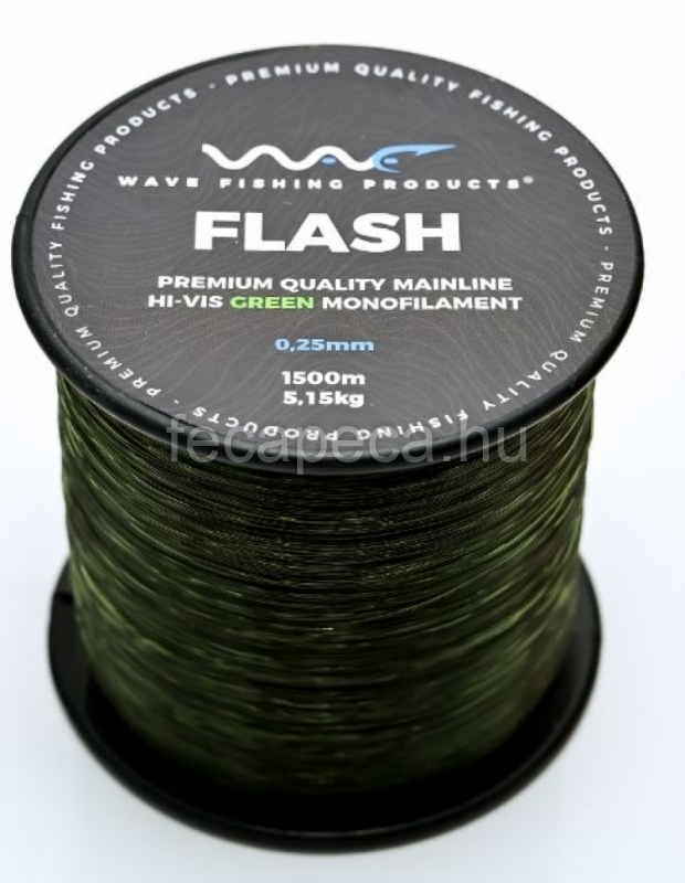 WAVE PRODUCTS WAVE FLASH GREEN ZSINÓR 1500M 0,22MM  - 4 990,- Ft
