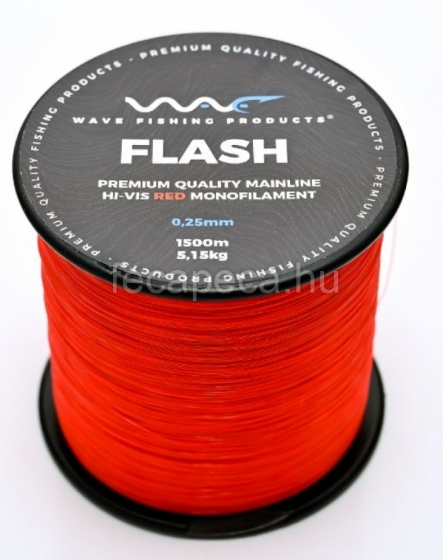 WAVE PRODUCTS WAVE FLASH RED ZSINÓR 1200M 0,30MM - 4 990,- Ft
