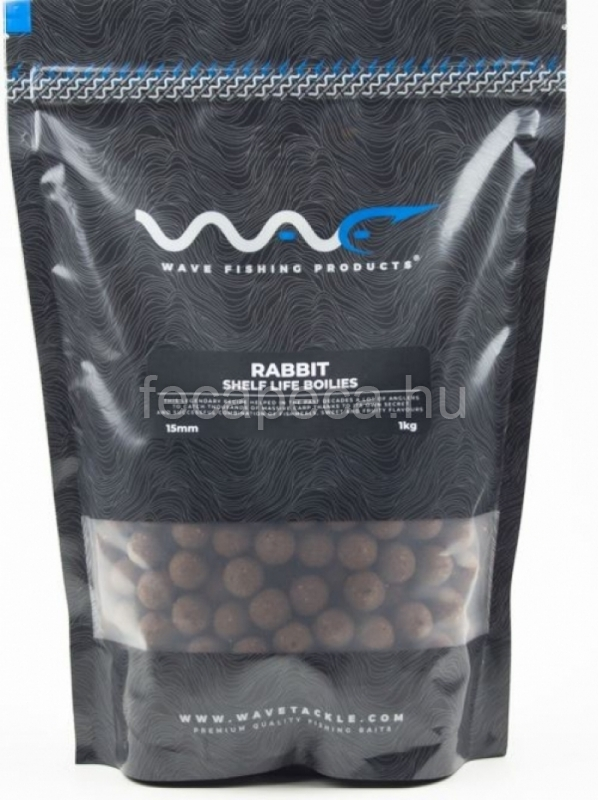WAVE PRODUCTS – RABBIT SHELF LIFE BOILIES 15MM 300G - 1 590,- Ft