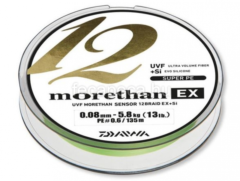 DAIWA MORETHAN 12 BRAID 0,008MM - 27 490,- Ft