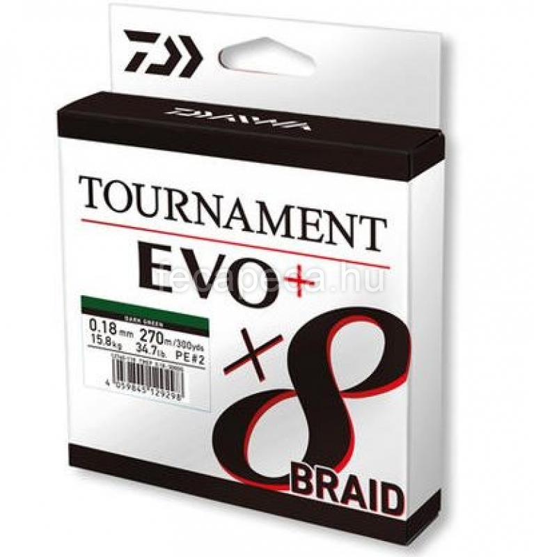 DAIWA TOURNAMENT X8 BRAID EVO 0.12MM - 16 990,- Ft